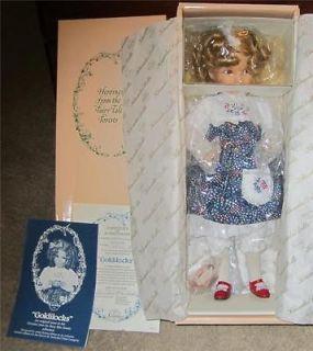 Knowles Dianna Effner Goldilocks Doll   NIB w/ Certificate 1989