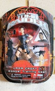 TWO Lara Croft Tomb Raider   figures combat training & Siberia gear