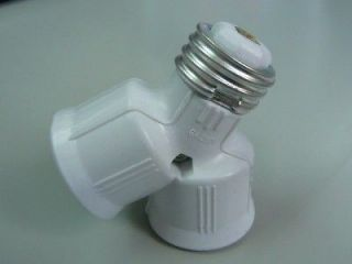 LED Halogen CFL Light Bulb Lamp Adapter E27 2 Way Split ES Edison