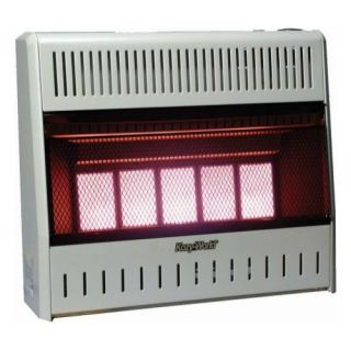 Kozy World, KWP322, 5 Plaque LP GAS Infrared Vent Free Wall Heater