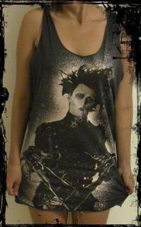 Johnny Depp Edward Scissorhands Vest Free Size Tank Singlet T Shirt