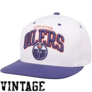 New NHL Edmonton Oilers Snapback Mitchell & Ness Two Tone White Arch