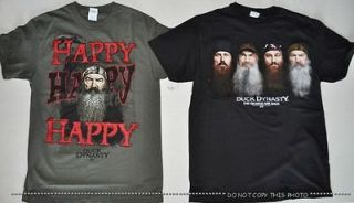 DUCK DYNASTY T SHIRT PHIL HAPPY WILLIE SI JASE ROBINSON FAMILY