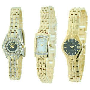 Elgin Womens Gold Tone Dress Watches  Choice of Three Styles