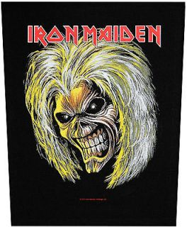 XLG Iron Maiden Killers/Eddie Rock Music Woven Back Jacket Patch