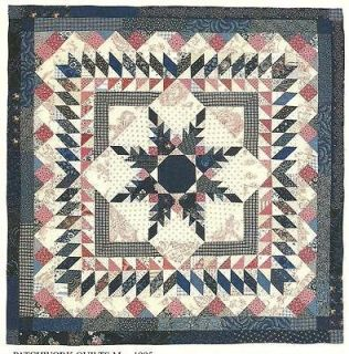Feathered Star Medallion Wall Quilt quilting pattern instructions