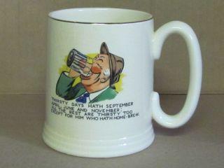 Vintage Elijah Cotton Lord Nelson Ware Porcelain Tankard Mug