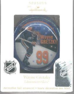 Hallmark 2011 WAYNE GRETZKY EDMONTON OILERS BALL ORNAMENT NHL HOCKEY