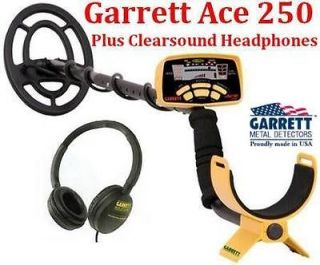 Garrett Ace 250 Metal Detector with Clearsound Headphones and Training