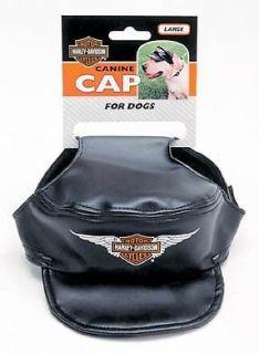 Harley Davidson Black Dog Canine Cap Hat Vinyl XS