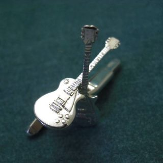 Silver Gibson electric Guitar Cufflinks, Les Paul, SG, Flying V, or