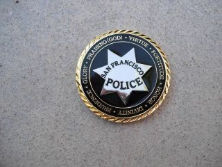 POLICE CHALLENGE COIN SAN FRANCISCO LAW ENFORCEMENT