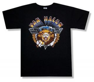 VAN HALEN LIVE 1982 LION BLACK T SHIRT NEW OFFICIAL ADULT X LARGE XL