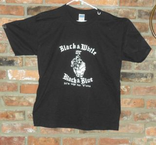 Outlaws M/C black & white or black & blue T Shirt