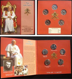 Malta Coins POPE JOHN PAUL II a Set of 5 Pieces 2005