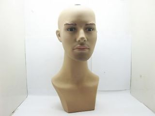 1X New Male Bald Head Torso Mannequin 43cm High