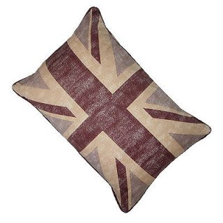 GOLD BRITISH FLAG DECORATIVE THROW CUSHION CASE (ONE SIDE) LIVING
