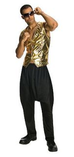 BLACK PARACHUTE PANTS rap hip hop rapper 80s mc hammer mens halloween
