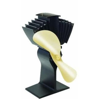 Woodstove fan, heat powered fan, gold energy free fan.