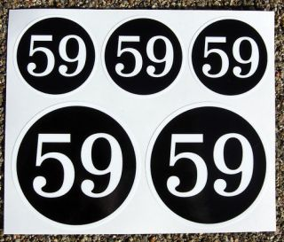 CAFE RACER 59 CLUB GOLD logo set stickers decals