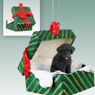 Portuguese Water Dog Gift Box Holiday Christmas ORNAMENT