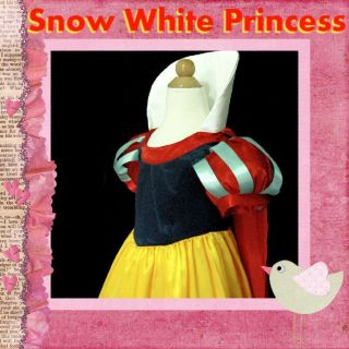 188 NWT Snow White Princess Halloween Xmas Party Girls Costume SZ 3