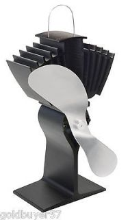EcoFan Airmax New Model 812AM KBX black Nickel Silver blades Stove Fan