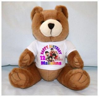 ONE DIRECTION 13 Brown Birthday Teddy Bear Personalized T Shirt ANY