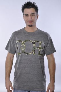 NEW MENS DOPE COUTURE CLASSIC LOGO LETTER ARMY HEATHER GREY CAMO TEE T