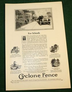 Vintage 1927 Cyclone Chain Link Fence Ad For Schools Nat Geo