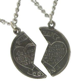 Necklace Bff Set New Mizpah Coin Best Friends Genesis Pendant
