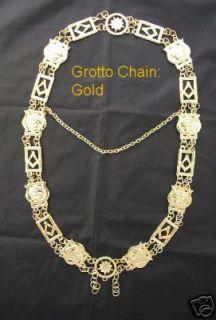 Grotto Chain Collar Jewel Masonic Regalia Gold Medal