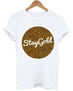 STAY GOLD LEOPARD PRINT DOPE STREET WEAR SWAG HIPSTER TOP T SHIRT MEN