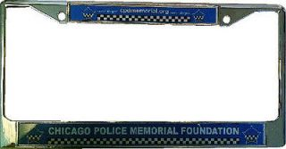 CHICAGO POLICE MEMORIAL CHROME LICENSE PLATE FRAME