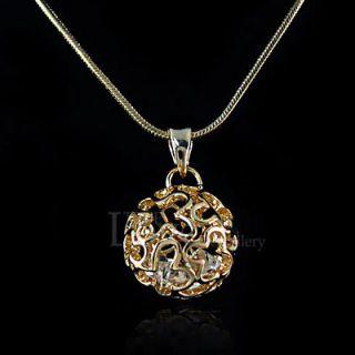 Newly listed 18K GP Cute Ball Necklace Use Swarovski Crystal NP1602