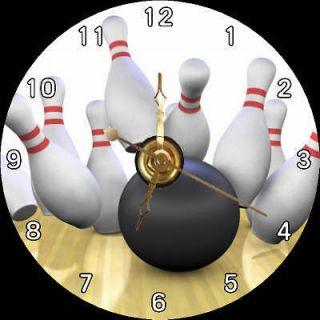 BRAND NEW Ball & Pins   STRIKE / Bowling CD Clock