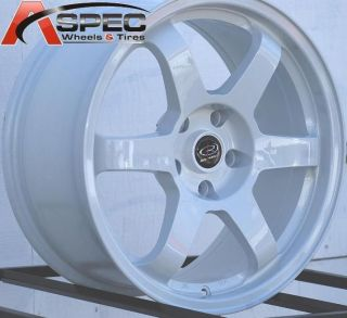 17X8 ROTA GRID WHEELS 5X114.3 RIM ET35MM WHITE FITS 5 LUG RSX 2002