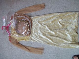 ANGEL WITH WINGS & HALO SIZE 4 6X GOLD GOLD DRESS BODY 100% POLYESTER