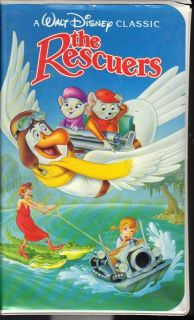 Walt Disney Classic The Rescuers (VHS, 1992) Clam Shell #1399