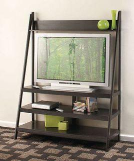LADDER TV STAND/WALL UNIT  WALNUT OR BLACK  NIB  STUNNING HOME DECOR