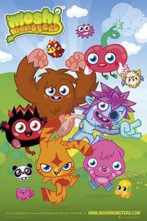 Moshi Monsters Poster   Group   Nintendo Gaming Moshi Monsters Poster