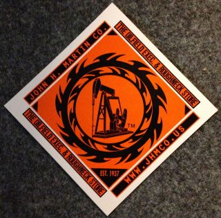 Oil well pump jack sticker decal oilfield trash gift sign drill gas
