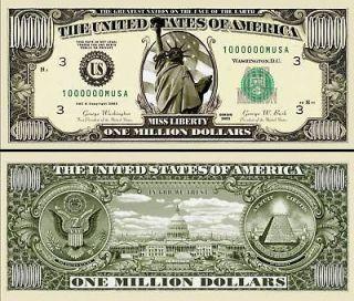 OUR ORIGINAL MILLION DOLLAR BILL (500 EA)