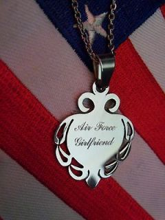 Air Force Necklace Stainless Steel Air Force Mom Girlfriend Grandma