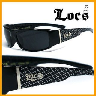 Locs Mens Sunglasses Gangster Sports   Black Net LC57