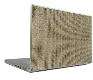 Silver on Gold 15.4 Crystal Rhinestone Bling Laptop Sheet Cover Skin