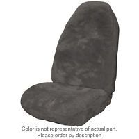 Universal High Back Bucket seat cover Sheepskin Charcoal Grey color