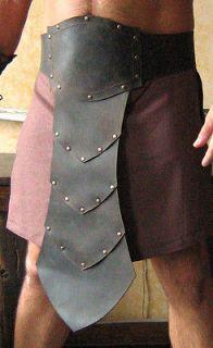 Medieval Fantasy Barbarian Gladiator Leather Belt Armor wt Front