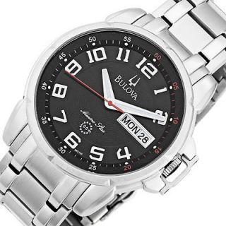 BULOVA Mens Marine Star Stainless Steel Bracelet Watch PRE OWNED