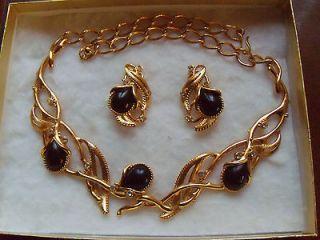 JOSE MARIA BARRERA FOR AVON 1990 GRANADA NECKLACE & CLIP EARRINGS